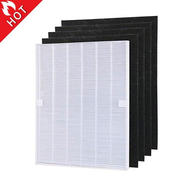 Piezas de purificador de aire, prefiltros de carbono y 1 pieza, filtro HEPA principal para Winix 115115 5300 5500 6300