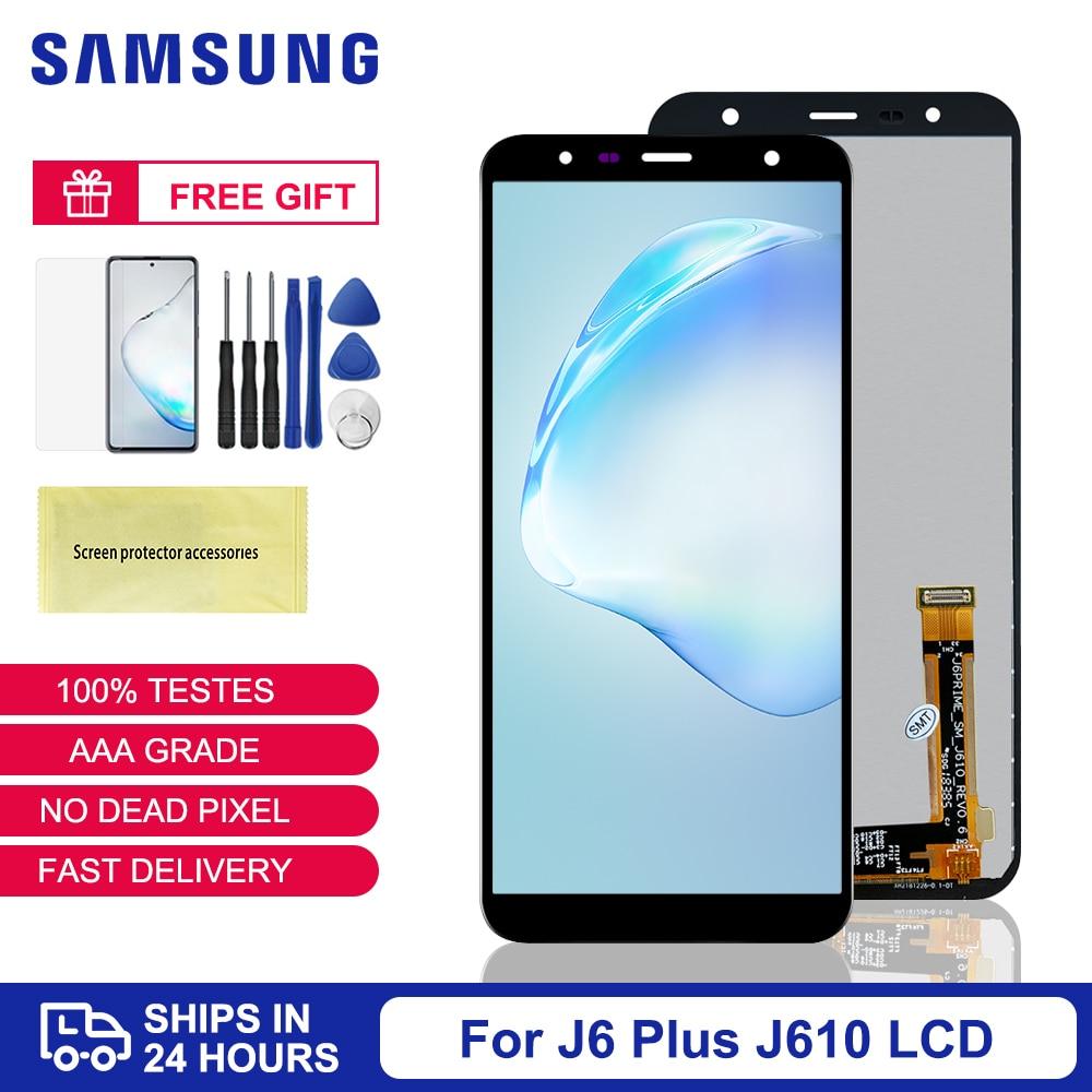 6.0'' Display For Samsung J6 J6 Plus LCD Screen Replacement Original For Samsung J6+ J610 J610FN LCD Touch Screen J6 Display