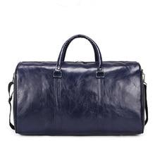 Large capacity Outdoor Short-distance Travel Bags Soft Pu Leather Women Duffel Bag Fashion Casual Men Sports Fitness Handbag
