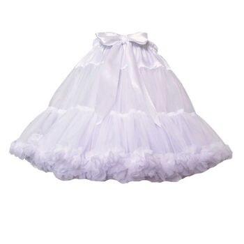 New Arrival Petticoats Wedding Bridal Crinoline Lady Girls Underskirt for Party White Blue Black Ballet Dance Skirt Tutu 1