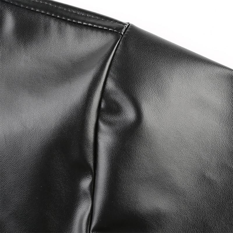 Veste cuir synthétique polyuréthane noir
