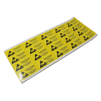 2.5*5.5cm 300Pcs/ Lot Caution Sticker Adhesive For Event Warning Mark ESD Static Sensitive Device Electronic Components Chipest
