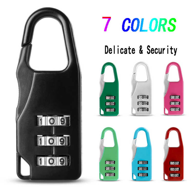 Mini Dial Digit Number Code Password Combination Padlock Zinc alloy Security Travel Delicate Safe Lock for Padlock Luggage Lock