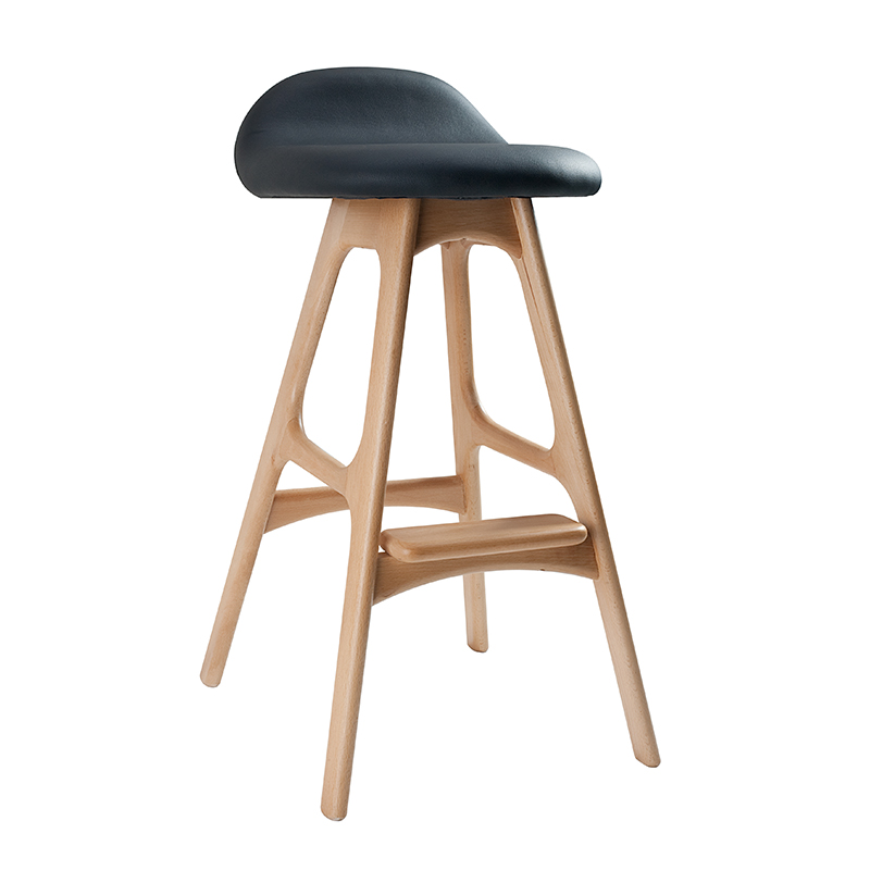 Wooden Solid Wood Bar Stools Nordic Fashion Dining Chair Makeup Chair Bar Stool High Bar Stool Bar Chair