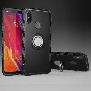 For Xiaomi Mi8 Lite Case Car Magnet Ring Holder for Funda Xiaomi Mi 8 SE Case Cover Xiaomi Mi 8 Lite Case Xiaomi8 Explorer 8SE|Fitted Cases| |  -