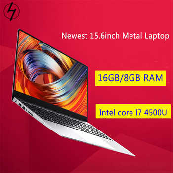 Gaming SSD laptop 15.6inch Metal Body Intel i7 4500U 16GB RAM Windows 10 Notebook Student Game Office Work with BT WiFi Webcam - DISCOUNT ITEM  20% OFF All Category