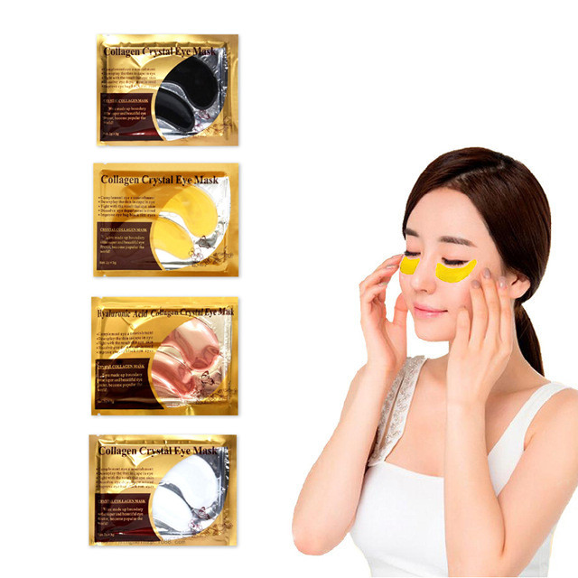 4Pairs Collagen Eye Mask Combination 4 Colors Anti Aging Wrinkle Moisturizing Eyes Patch Hot Sale Eye Skin Care image