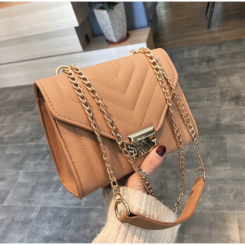 2020 New European Fashion Female Square Bag High Quality PU Leather Women's Designer Handbag Lock Chain Shoulder Messenger Bags
