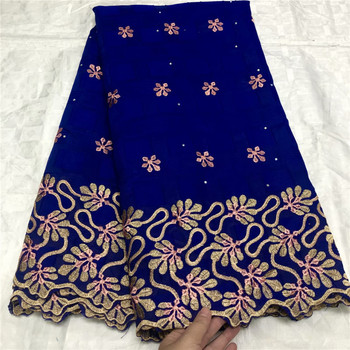 Latest Dry lace embroidery African 100% cotton fabrics