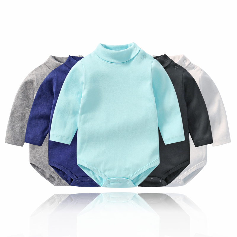 Baby Bodysuit Girl Body Bebe High Neck Long Sleeve Baby Bodysuit Newborn Cotton Body Boy Girls Twins Clothes Baby Onesie Toddler