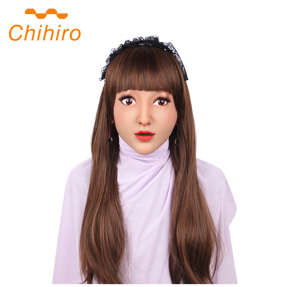 Soft Silicone Female Claire Mask Realistic Human Skin Mask for Crossdresser Cosplay Halloween Masquerade Shemale Drag Queen 3G  - buy with discount
