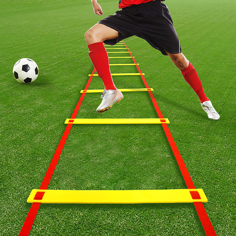 8/10/12/13  Rung Nylon Straps Agility Training Ladders Soccer Football Speed Ladder Training Stairs Profession Fitness Equipment