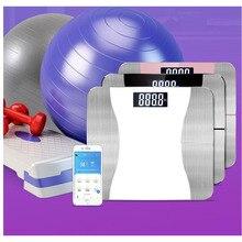 Смарт-приложение для измерения жира тела, Bluetooth, умные весы для взвешивания жира, электронные весы для измерения пола, BMI, весы для ванной