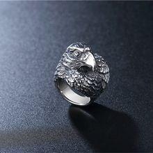 Нордическая викинговая ворона кольцо из нержавеющей стали с
