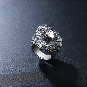 Nordic Viking crow ring stainless steel crow head ring fashion men and women accessories ring Viking jewelry