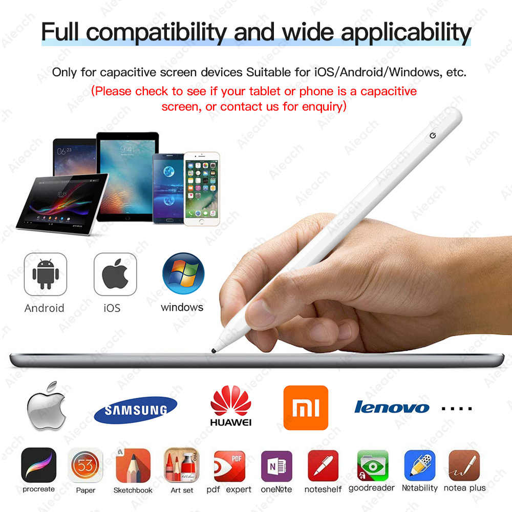 Lápiz Stylus activo Universal para Xiaomi Huawei Samsung iPhone Tablet lápiz táctil inteligente para iPad de Apple solo para pantalla capacitiva