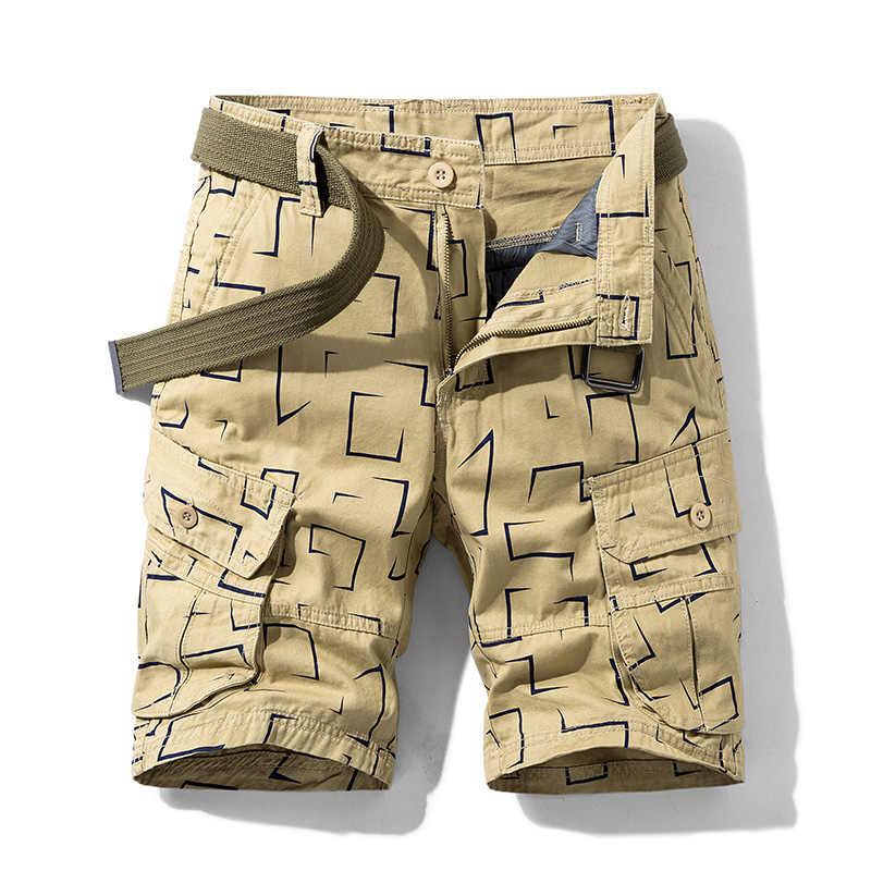 Brand New męskie szorty Cargo 2020 wysokiej jakości czarne wojskowe krótkie spodnie męskie bawełniane jednokolorowa na co dzień szorty plażowe męskie letnie dno