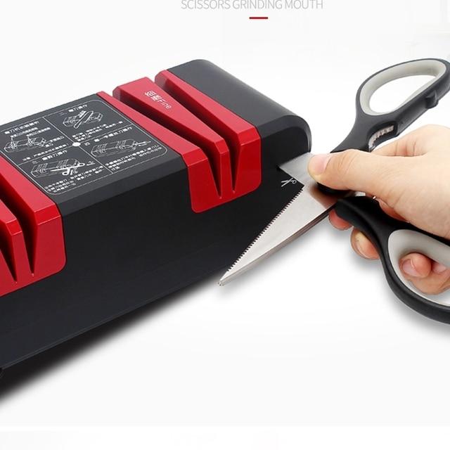 Nouveau 220V automatique rapide aiguiseur de couteau ménage électrique couteau Cutter aiguiseur pierre magique couteau aiguiseur-prise américaine