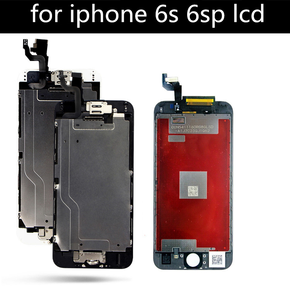 AAA LOT No Dead Pixel LCD Screen Replacement for iPhone 6s LCD 4.7 6s plus LCD Display Touch Digitizer Assembly Free Shipping image