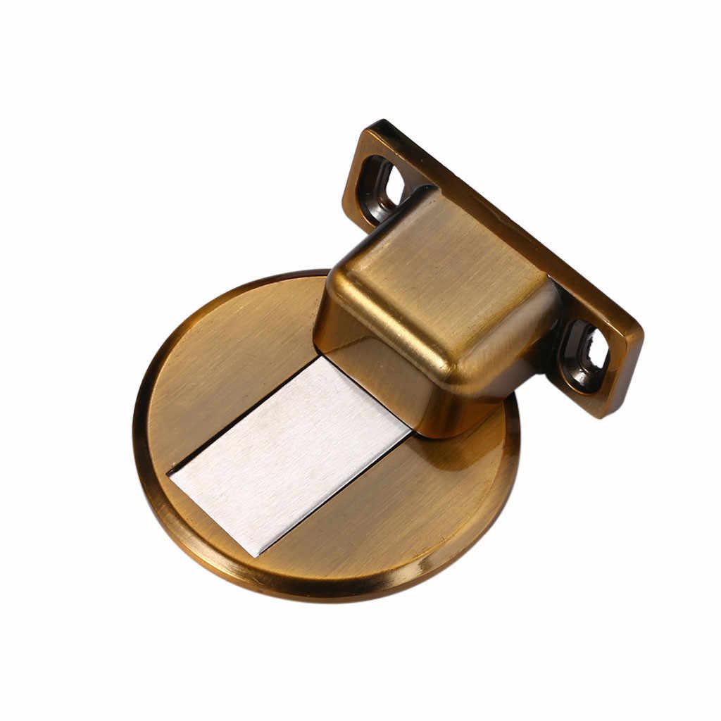 אנטי-מחורר נירוסטה Invisible אבץ סגסוגת אנטי התנגשות דלת בלוק מגנטי דלת יניקה מגנטי דלת מפסיק