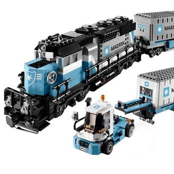 DHL IN Stock 21006 1234Pcs Train Model Building Blocks Bricks Toys for Children  Christmas Gift Compatible 10219 2