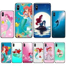 Ariel Little Mermaid princess Black Cell Phone Case For iphone 4 4s 5 5s 5c se 6 6s 7 8 plus x xs xr 11 pro max nand pro box ip nand pro for iphone 4 4s 5 5c 5s 6 6p supported for ipad 2 3 4 5 6 supported