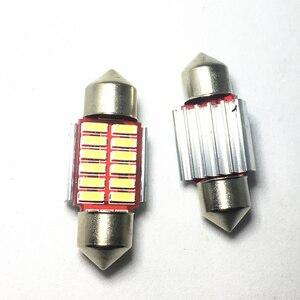 10 шт. автомобильный гирлянда 31 мм 36 мм 39 мм 42 мм светодиодный светильник C5W супер яркий 4014 SMD Canbus автомобильный Стайлинг осветительная лампа 12 В