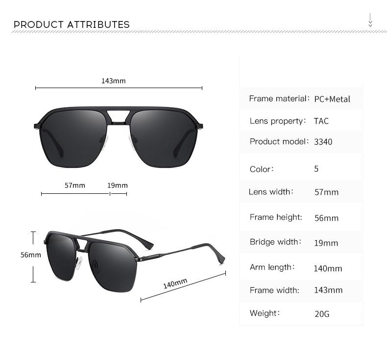 Classic Pilot Polarized Sunglasses Men Coating Mirror Sport Retro Sun Glasses Men Ride Travel Driving Fishing Eyewear Male UV400 (7)