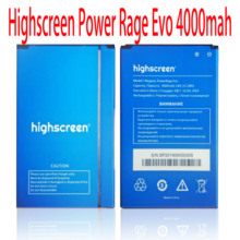 100% NEW battery For Highscreen Power Rage Evo 4000mah battery