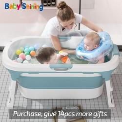Детское Складное Сиденье для ванной, блестящее, От 0 до 15 лет, для взрослых, с крышкой, большая, бытовая, для купания, для детей 2-3 лет