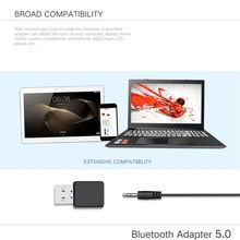 USB Bluetooth Receiver Transmitters 5.0 Wireless 3.5mm Audio Music Stereo Adapter Dongle for TV PC Bluetooth Speaker Headphone jinserta 2018 brand new wireless audio bluetooth transmitter music stereo dongle adapter for tv smart pc mp3 headphone