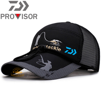 DAIWA-Sombrero de pesca para hombre, sombrilla de protección solar para exteriores, gorra de pesca deportiva de secado rápido, senderismo, montar, gorra de red de béisbol