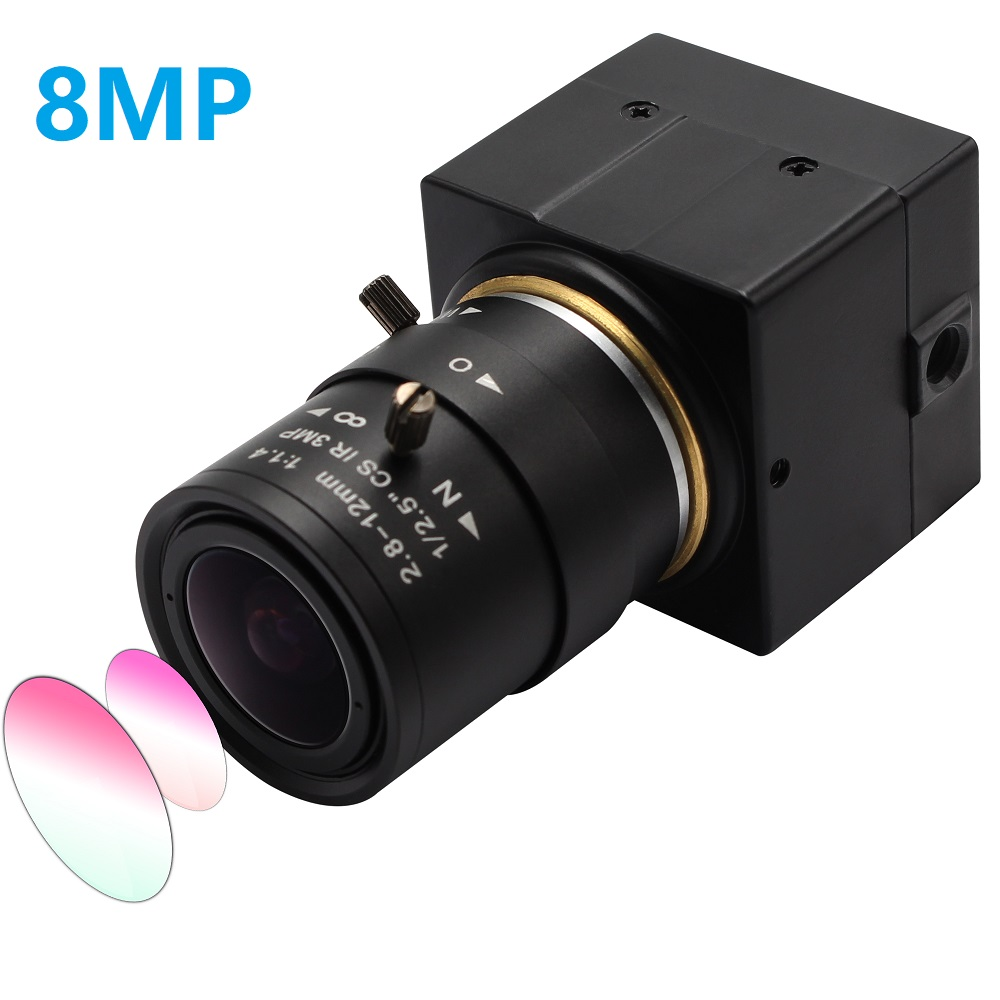 8MP HD <font><b>SONY</b></font> <font><b>IMX179</b></font> usb video camera Super mini box Small USB camera with 2.8-12mm Varifocal Lens for Android,Linux ,Windows image