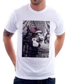 Camiseta StormTrooper Selfie London Tower Bridge 9773 algodón camiseta Última Noticia estilo