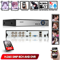 AI Face Detection Face recognition Face Playback 8CH AHD Network Video Recorder H.265+ 5MP Hybrid DVR NVR IP Camera Security kit