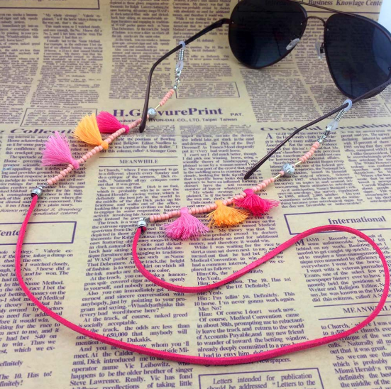 Fashion Womens Tassel Eyeglass Eyewears Sunglasses Reading Glasses Chain Cord Holder Neck Strap Rope