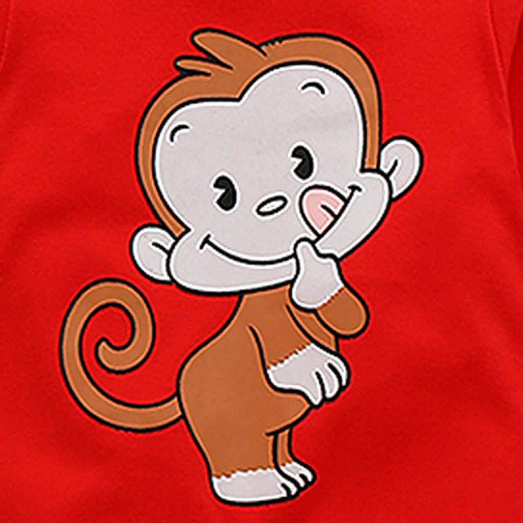 2019 Autumn Kids Clothes Romper Newborn Infant Baby Boy Girl Cartoon Monkey Romper Jumpsuit Clothes Outfits Costumes Pajamas