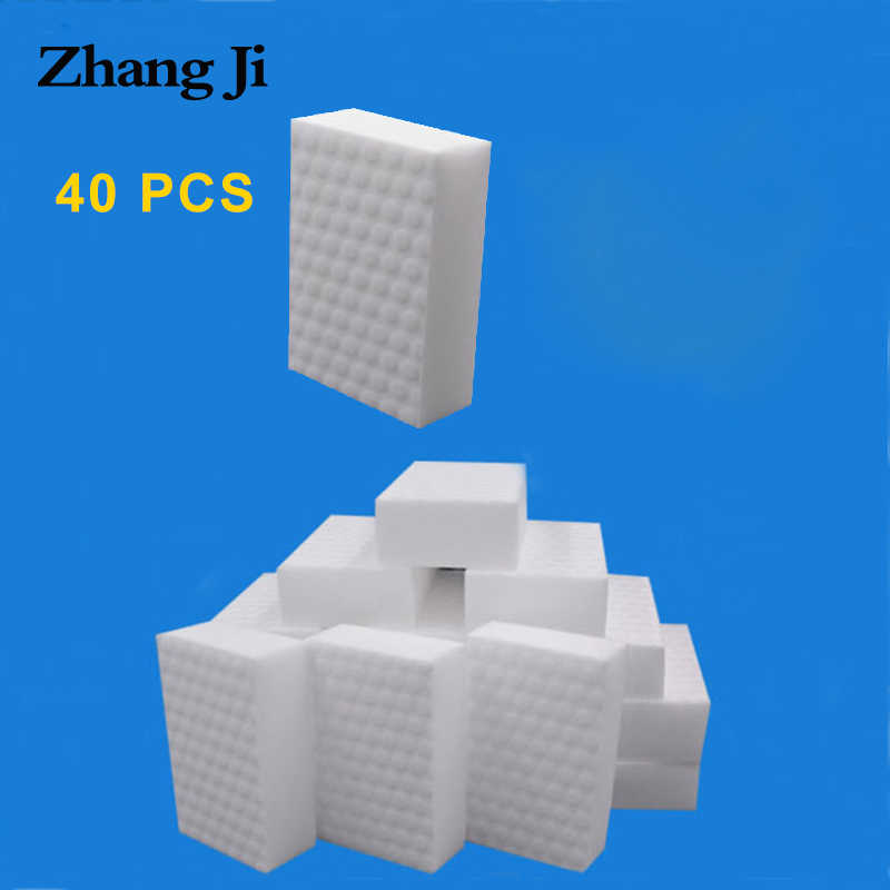 ZhangJi 40 pcs melamine sponge compressed magic erasers kitchen bathroom Multi-function cleaning tools quality supplier