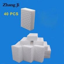 ZhangJi 40 pcs cleaning melamine sponge compressed magic erasers kitchen bathroom Multi-function tools quality supplier