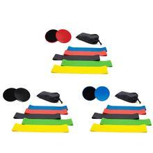 5 эспандеров с двойными фитнес скользящими планерами тренировочные диски для йоги D5BA