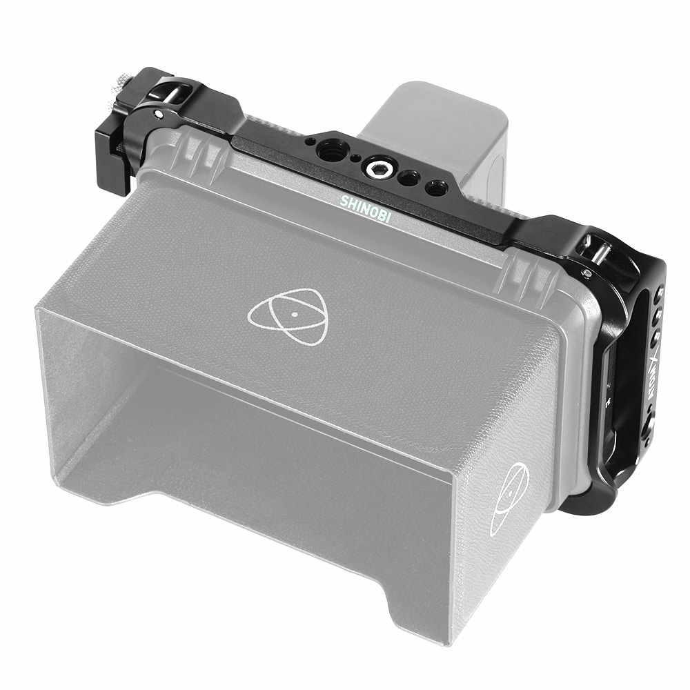 Jaula de Monitor SmallRig para Atomos Shinobi de 5 pulgadas con orificio de localización Nato/Arri/abrazadera de Cable HDMI para jaula AtomX Shinobi-2305