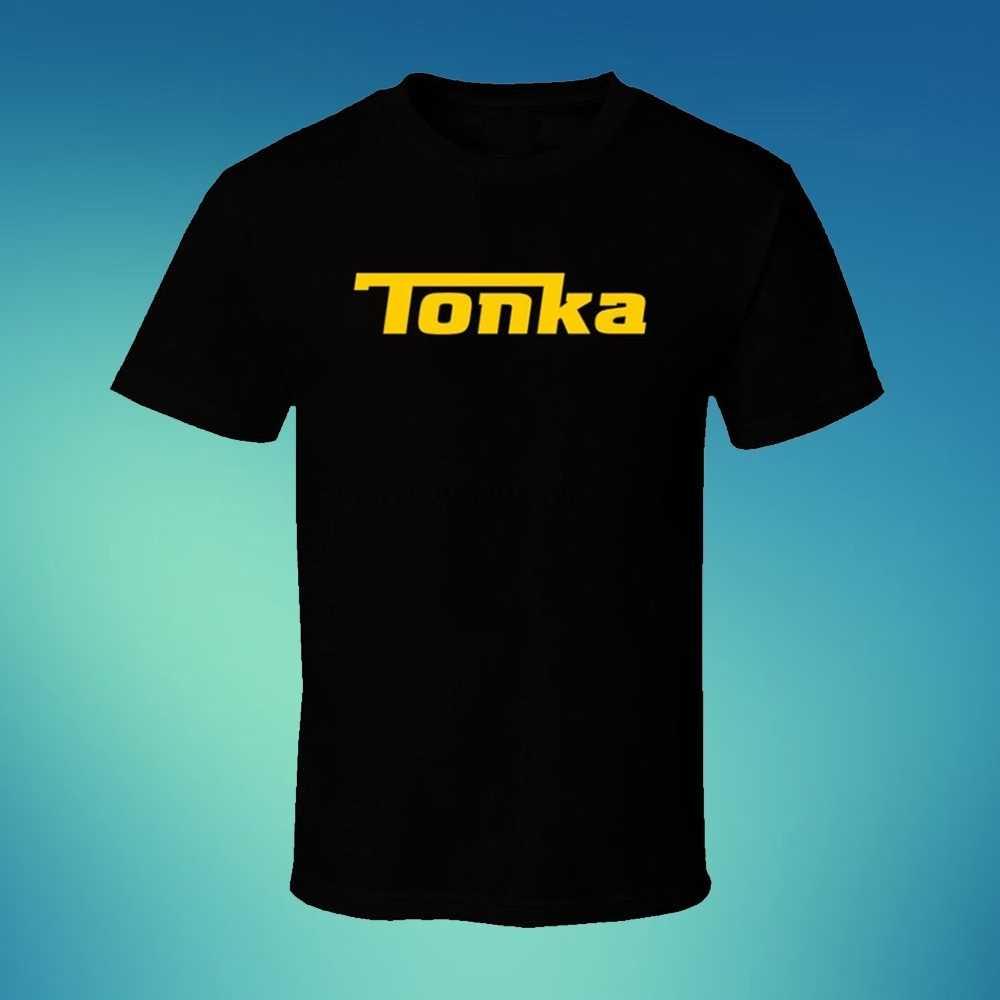 Tonka caminhão logotipo dos homens preto t camisa trucking comboio motoristas roupas
