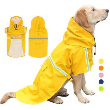Płaszcz przeciwdeszczowy dla psów wodoodporny pokrowiec przeciwdeszczowy cape kombinezon płaszcz z kapturem poncho outdoor przeciwdeszczowy i wiatroszczelny Pet Dog odblaskowe płaszcz przeciwdeszczowy tanie i dobre opinie CN (pochodzenie) Stałe Raincoat Blue yellow pink green orange S M L XL 2XL 3XL 4XL 5XL general Pet clothing cat and dog raincoat
