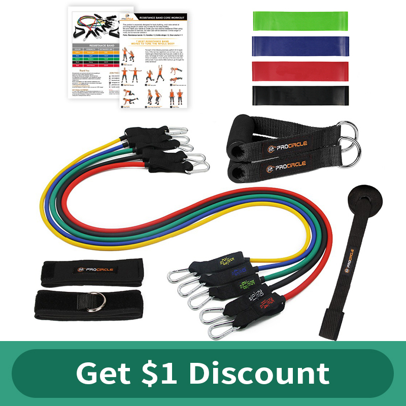 Procircle Widerstand Bands set - 15 Pcs Expander Rohre Gummiband Für Widerstand Training, Physikalische Therapie, hause Fitness-Studios Workout