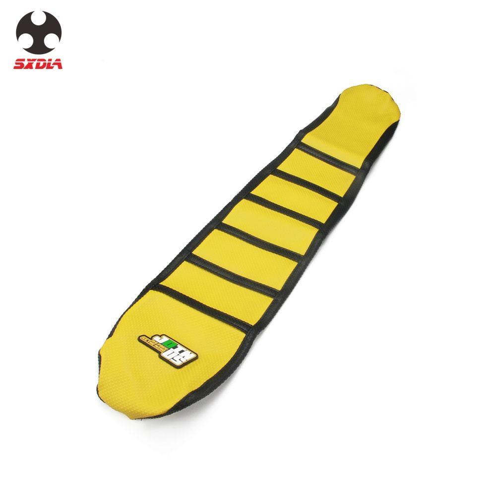 "New /""Suzuki/"" Black /& Yellow Ribbed Seat cover RMZ450F 2005-2007"