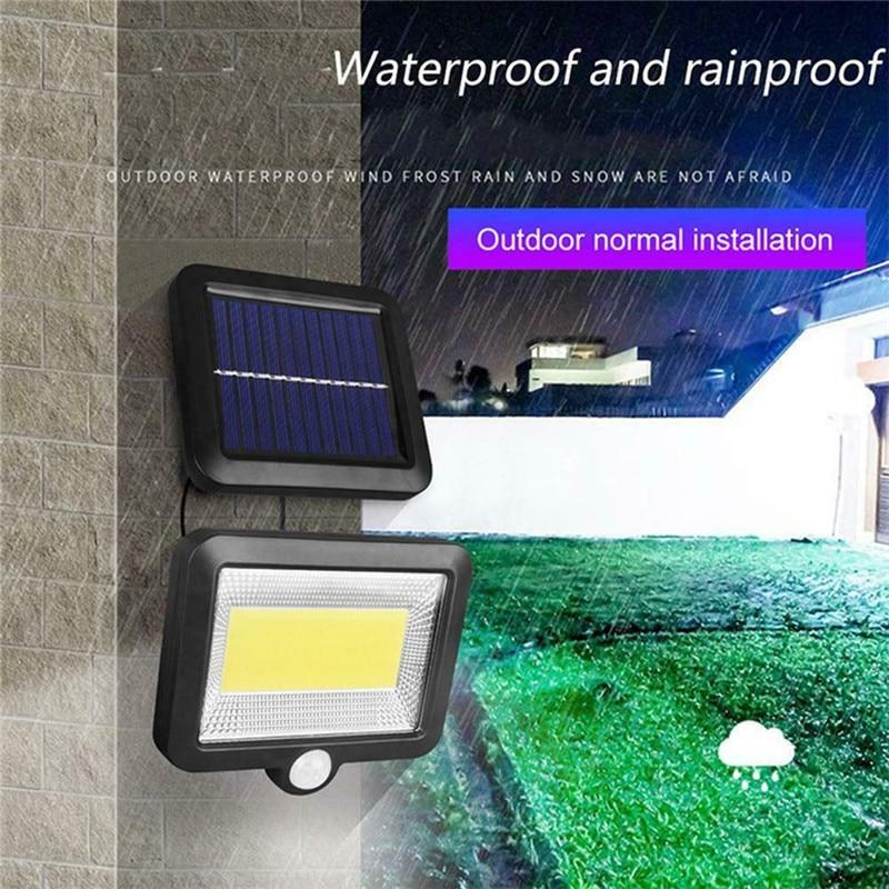 COB 100 LED Solar Light Outdoors Solar Garden Light IP65 Waterproof Split Solar Wall Light Spotlights Security Emergency