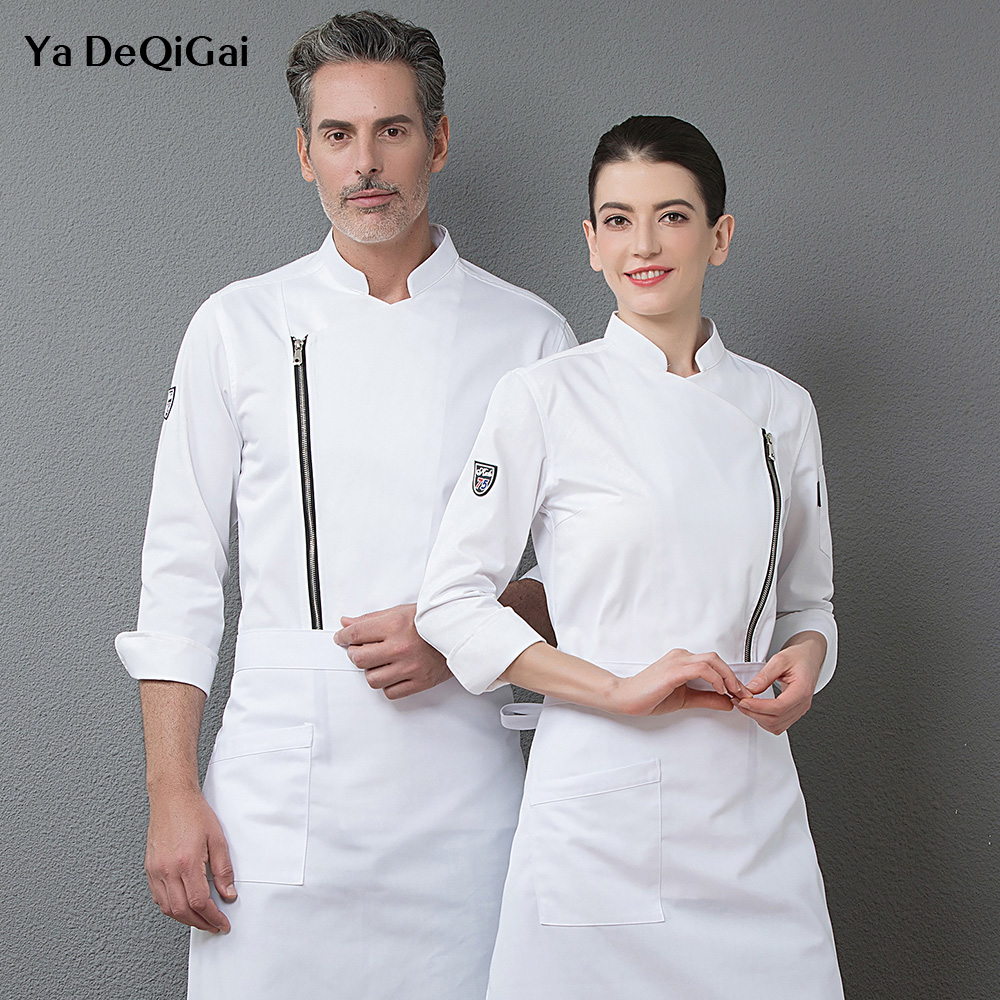 Food Service Jacket Restaurant Chef Clothing Hotel Kitchen Workwear Long Sleeve Spring And Autumn Chef Cooks Uniforms New Shirts