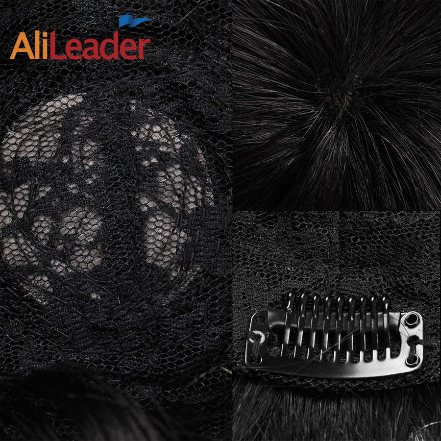 Alileader New Swiss Lace Toupee Replacement Systems Handmade Men Wig Hairpiece Human Hair Men Toupee For Black Men Free Shipping