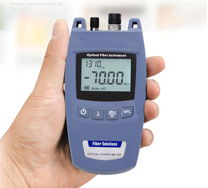 2 in 1 Mini TL520 Optical Power Meter + VFL 10mW 10km Visual Fault Locator TL-520 fiber tester light decay test:-50~+26 dBm