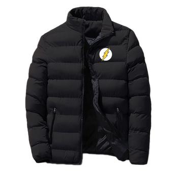 2020 męskie zimowe Plus aksamitne teoria wielkiego podrywu nowy nadruk moda klasyczne bawełniane odzież The Flash ciepłe kurtka z zamkiem topy tanie i dobre opinie CN (pochodzenie) COTTON REGULAR Grube 5812 Suknem zipper NONE Aplikacje Drukuj Na co dzień MANDARIN COLLAR